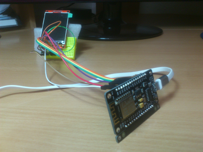 ESP8288 connected to ILI9341
